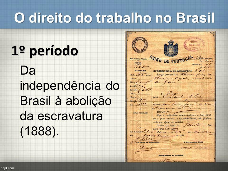O direito do trabalho no Brasil 2º período De 1888 a 1930.