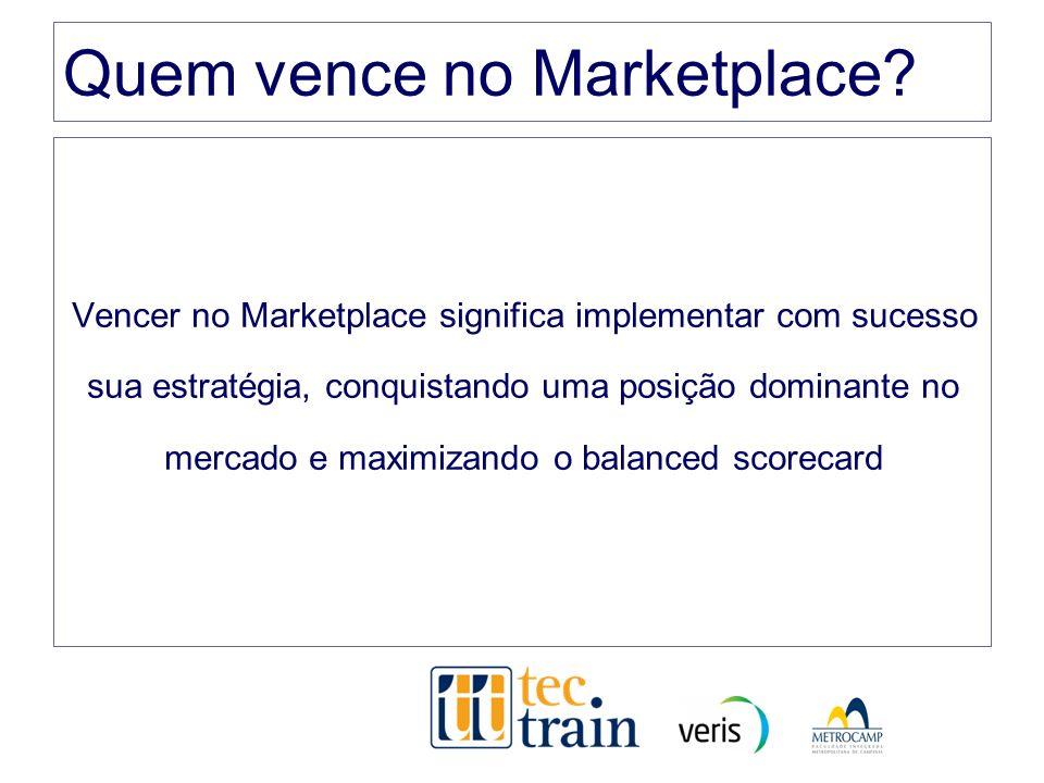 Quem vence no Marketplace? Vencer no Marketplace significa implementar com sucesso sua estratégia, conquistando uma posição dominante no mercado e max