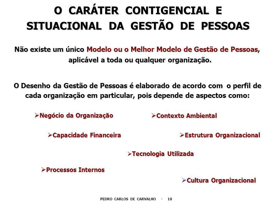 Não existe um único Modelo ou o Melhor Modelo de Gestão de Pessoas, aplicável a toda ou qualquer organização. aplicável a toda ou qualquer organização
