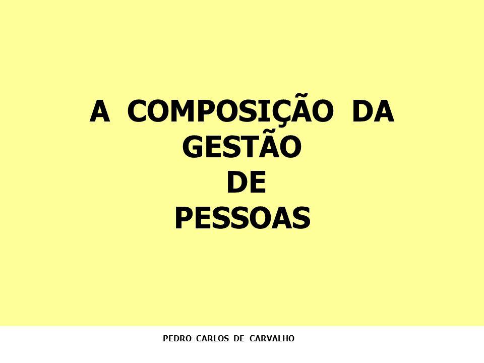 A COMPOSIÇÃO DA GESTÃO DE PESSOAS PEDRO CARLOS DE CARVALHO