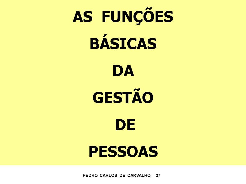 AS FUNÇÕES BÁSICAS DA GESTÃO DE PESSOAS PEDRO CARLOS DE CARVALHO 27