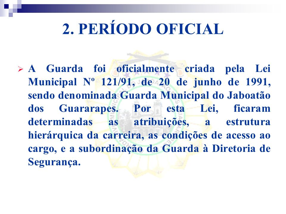 Serão liberados recursos do Governo Federal para o aparelhamento e formação continuada dos integrantes das Guardas.
