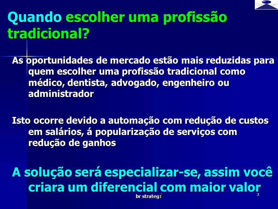 br strateg i 3 Quando escolher uma profissão tradicional? As oportunidades de mercado estão mais reduzidas para quem escolher uma profissão tradiciona