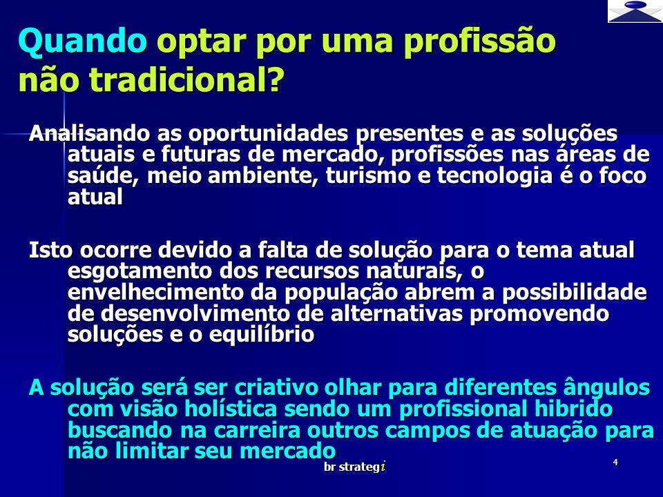 br strateg i 4 Quando optar por uma profissão não tradicional? Analisando as oportunidades presentes e as soluções atuais e futuras de mercado, profis