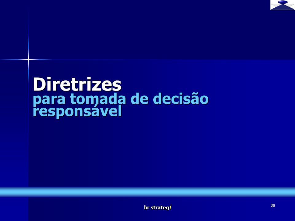 br strateg i 20 Diretrizes para tomada de decisão responsável Brief strategy