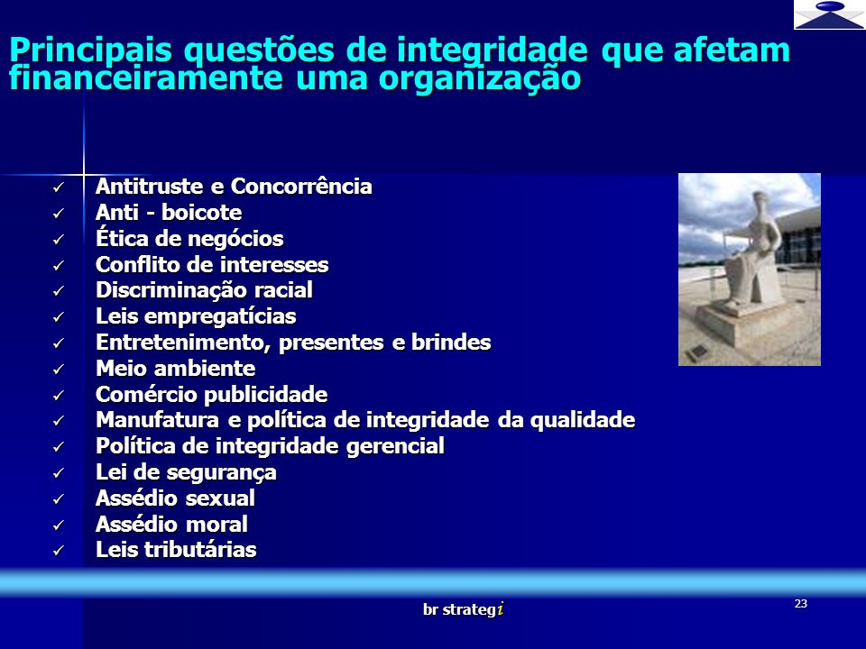 br strateg i 23 Principais questões de integridade que afetam financeiramente uma organização Brief strategy Antitruste e Concorrência Antitruste e Co