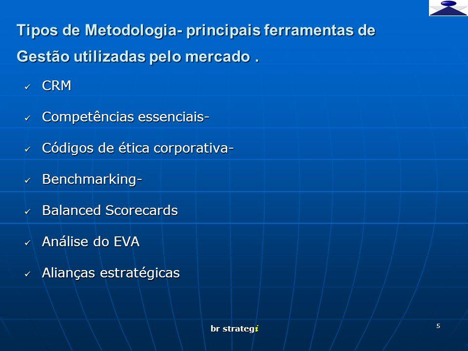 br strateg i 5 Tipos de Metodologia- principais ferramentas de Gestão utilizadas pelo mercado. CRM CRM Competências essenciais- Competências essenciai