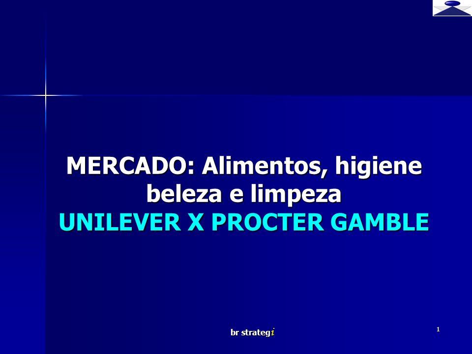 br strateg i 1 MERCADO: Alimentos, higiene beleza e limpeza UNILEVER X PROCTER GAMBLE