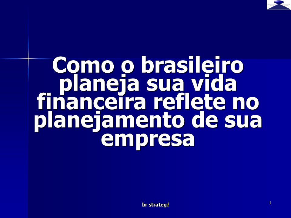 br strateg i 1 Como o brasileiro planeja sua vida financeira reflete no planejamento de sua empresa Brief strategy