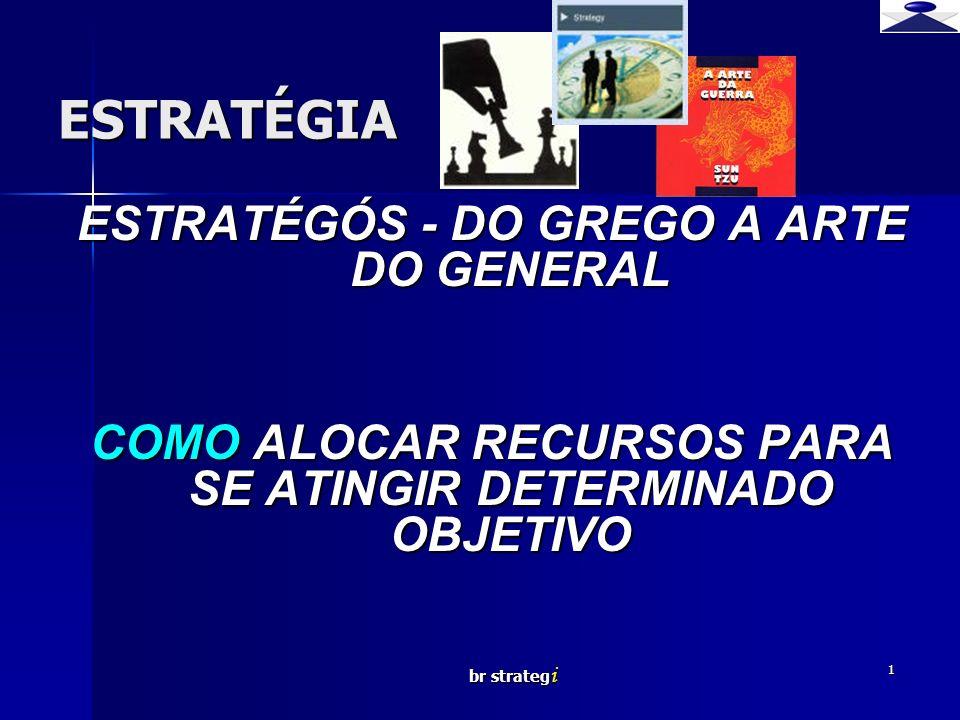 br strateg i 1 ESTRATÉGIA ESTRATÉGÓS - DO GREGO A ARTE DO GENERAL COMO ALOCAR RECURSOS PARA SE ATINGIR DETERMINADO OBJETIVO