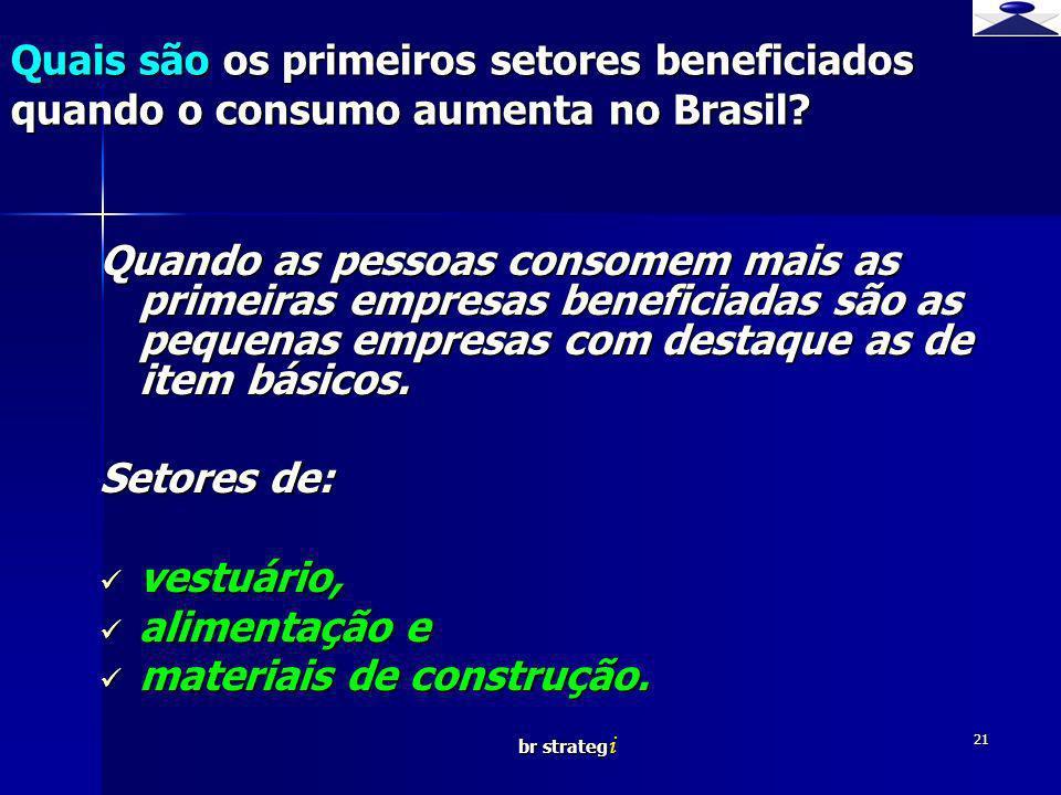 br strateg i 21 Quais são os primeiros setores beneficiados quando o consumo aumenta no Brasil? Quando as pessoas consomem mais as primeiras empresas