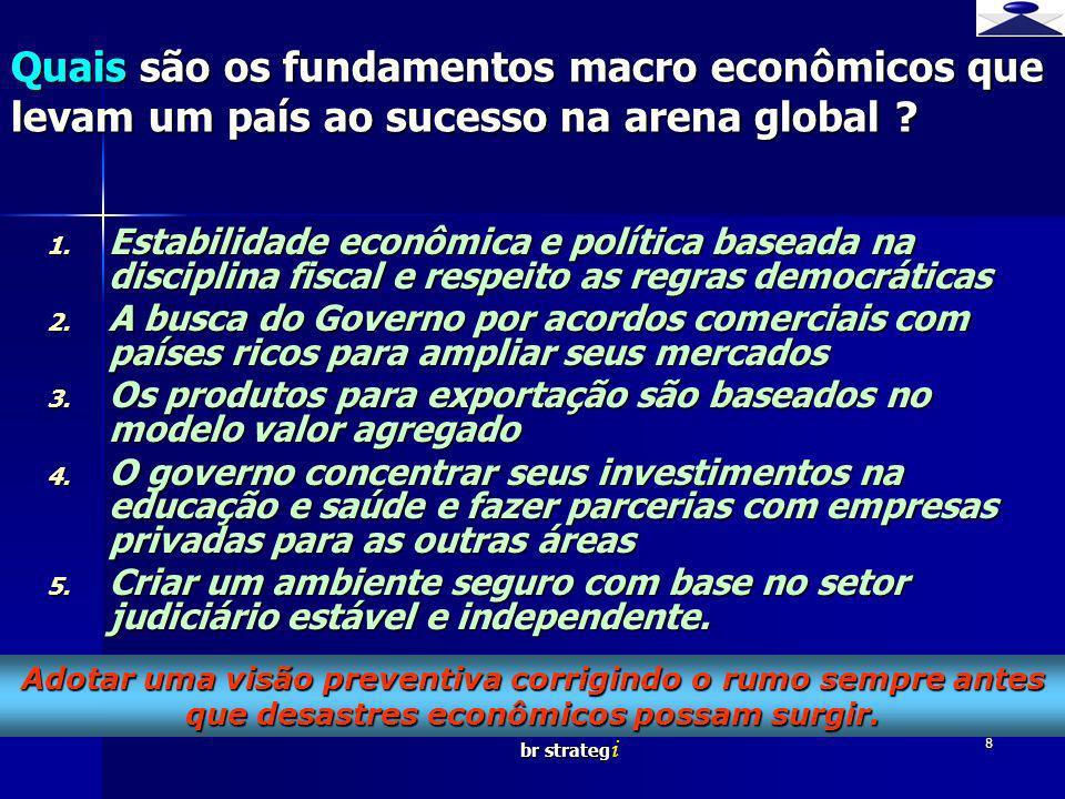 br strateg i 8 1. Estabilidade econômica e política baseada na disciplina fiscal e respeito as regras democráticas 2. A busca do Governo por acordos c