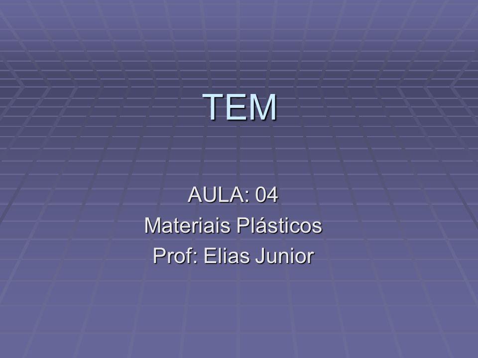 TEM AULA: 04 Materiais Plásticos Prof: Elias Junior