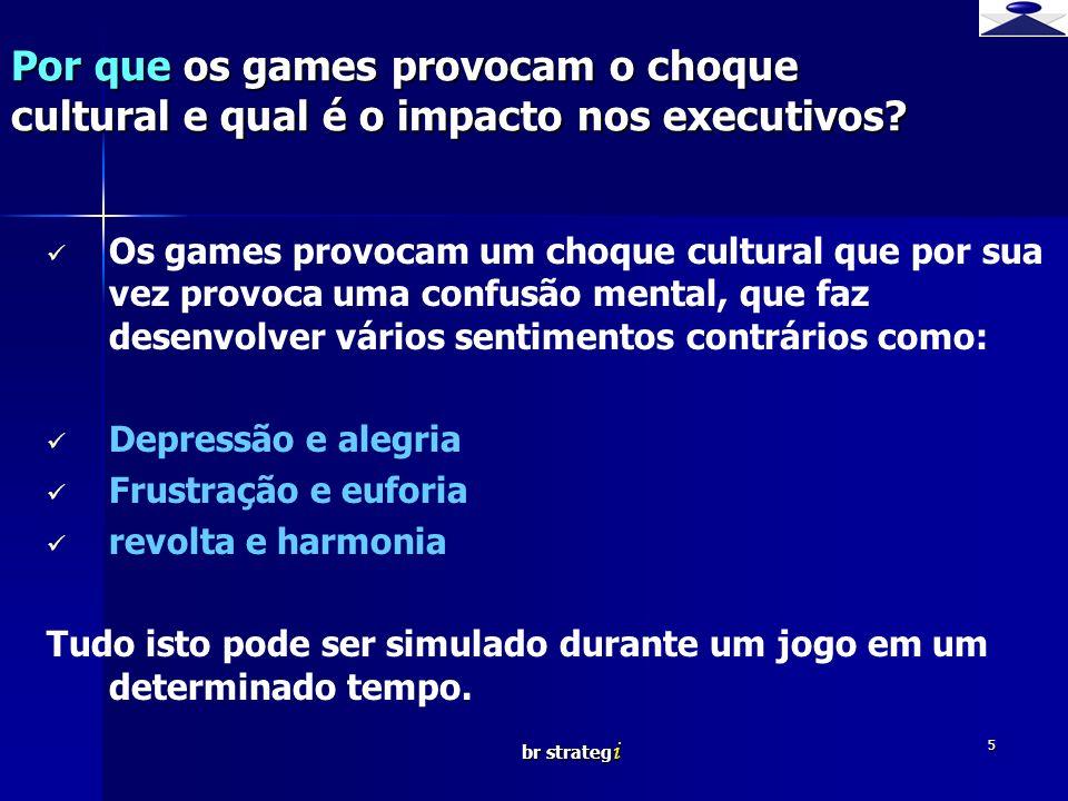 br strateg i 5 Os games provocam um choque cultural que por sua vez provoca uma confusão mental, que faz desenvolver vários sentimentos contrários com