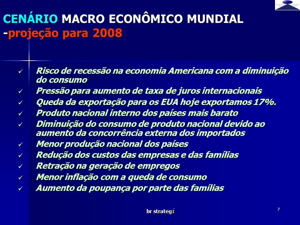 br strateg i 7 Risco de recessão na economia Americana com a diminuição do consumo Risco de recessão na economia Americana com a diminuição do consumo