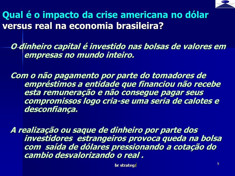br strateg i 5 O dinheiro capital é investido nas bolsas de valores em empresas no mundo inteiro.