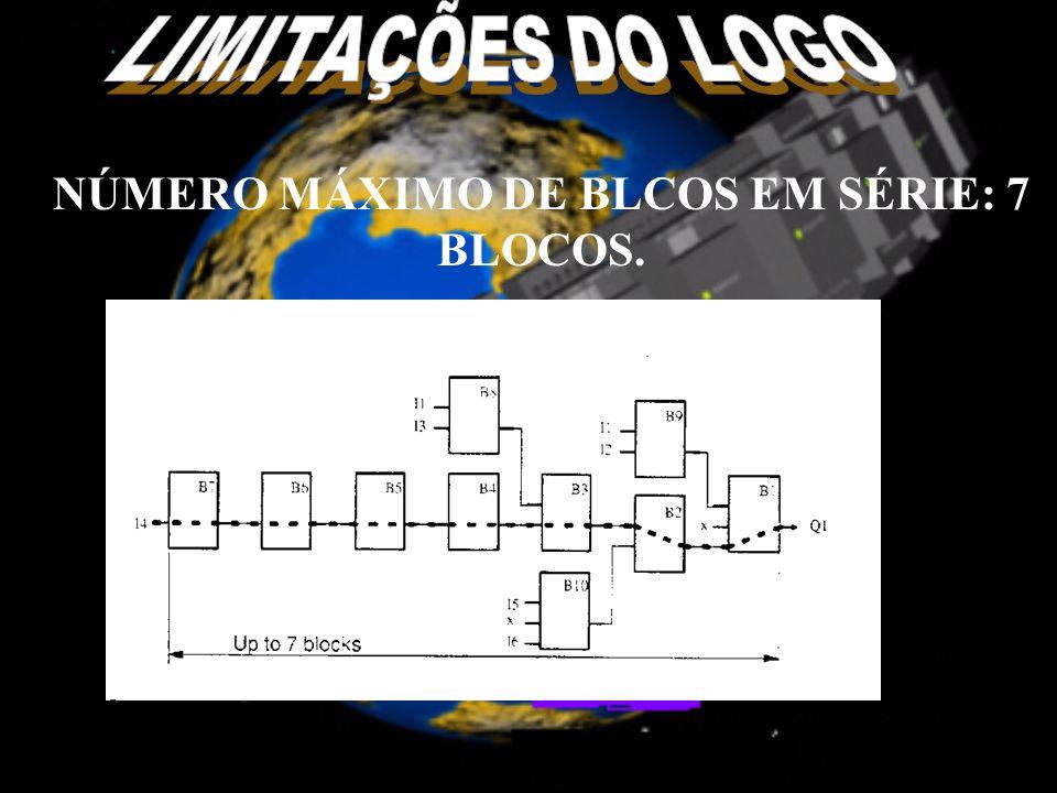 NÚMERO MÁXIMO DE BLCOS EM SÉRIE: 7 BLOCOS.