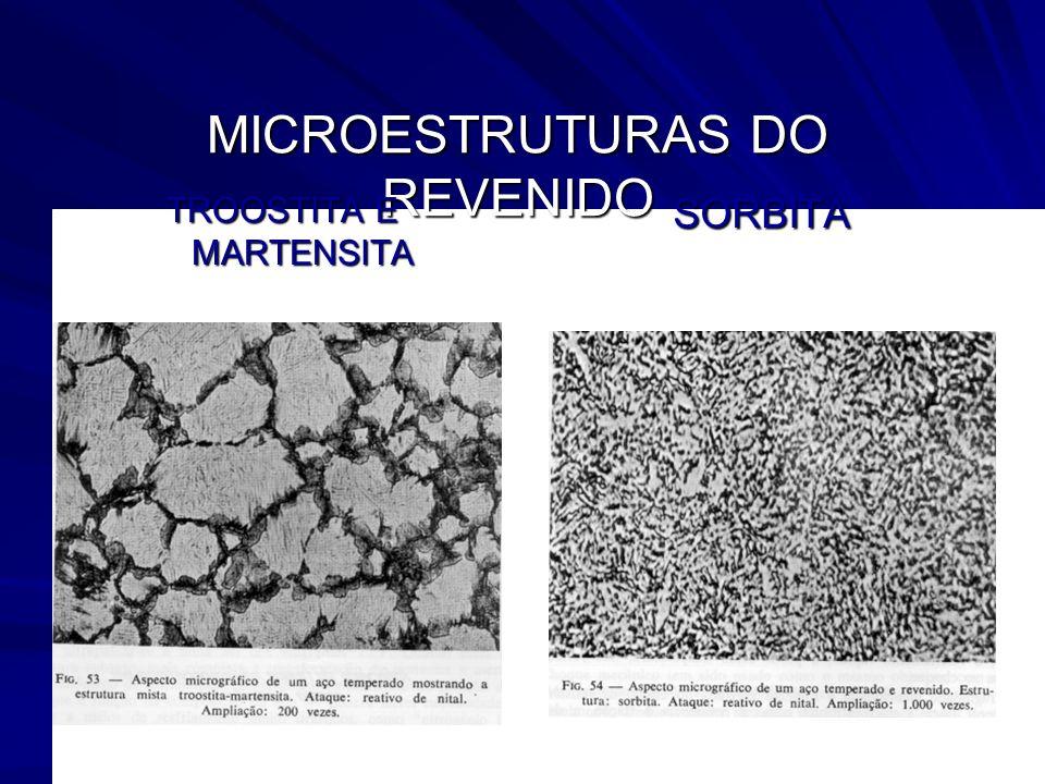 79 MICROESTRUTURAS DO REVENIDO TROOSTITA E MARTENSITA SORBITA