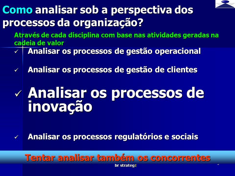 br strateg i 3 Analisar os processos de gestão operacional Analisar os processos de gestão operacional Analisar os processos de gestão de clientes Ana