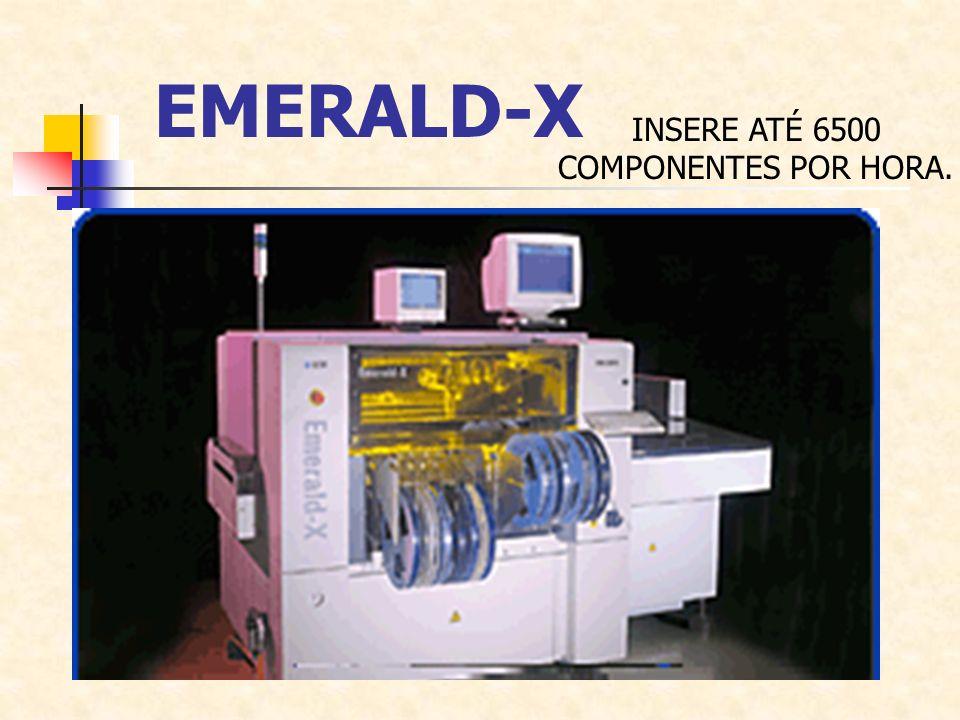 EMERALD-X INSERE ATÉ 6500 COMPONENTES POR HORA.