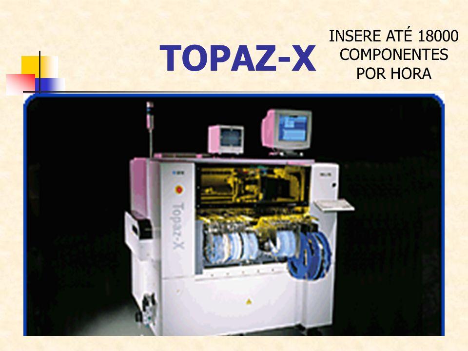 TOPAZ-X INSERE ATÉ 18000 COMPONENTES POR HORA