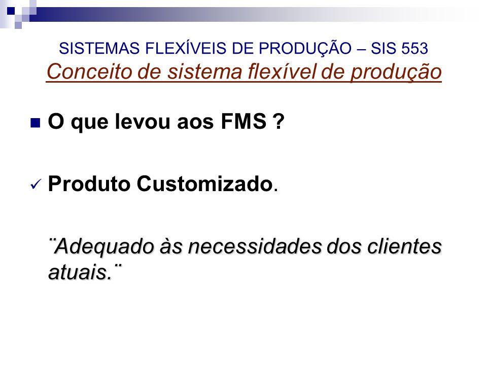 O que levou aos FMS ? Produto Customizado. ¨Adequado às necessidades dos clientes atuais.¨ ¨Adequado às necessidades dos clientes atuais.¨