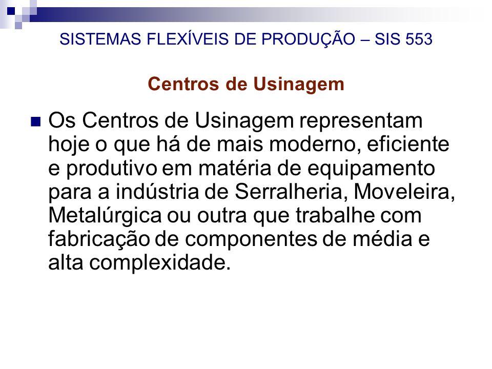 Os Centros de Usinagem representam hoje o que há de mais moderno, eficiente e produtivo em matéria de equipamento para a indústria de Serralheria, Mov