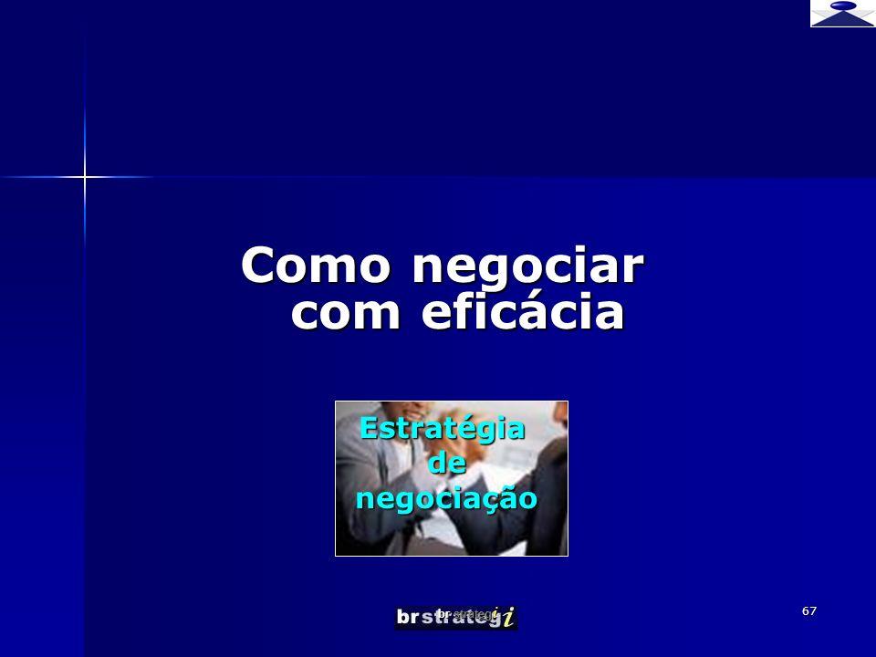 br strateg i 67 Como negociar com eficácia Estratégia de de negociação negociação