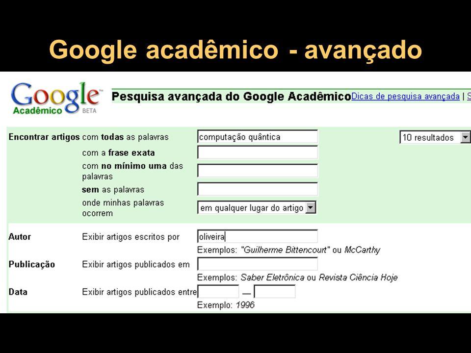 Google Acadêmico - resultado