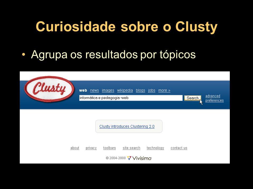 Resultado do Clusty