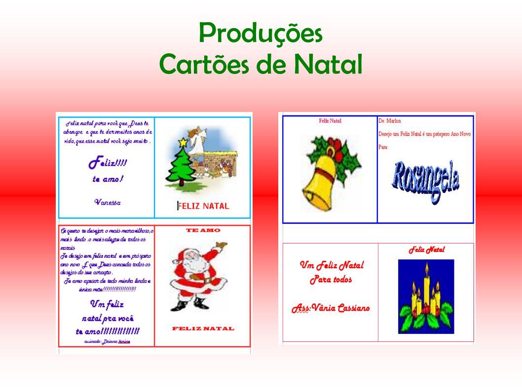 Produções Cartões de Natal