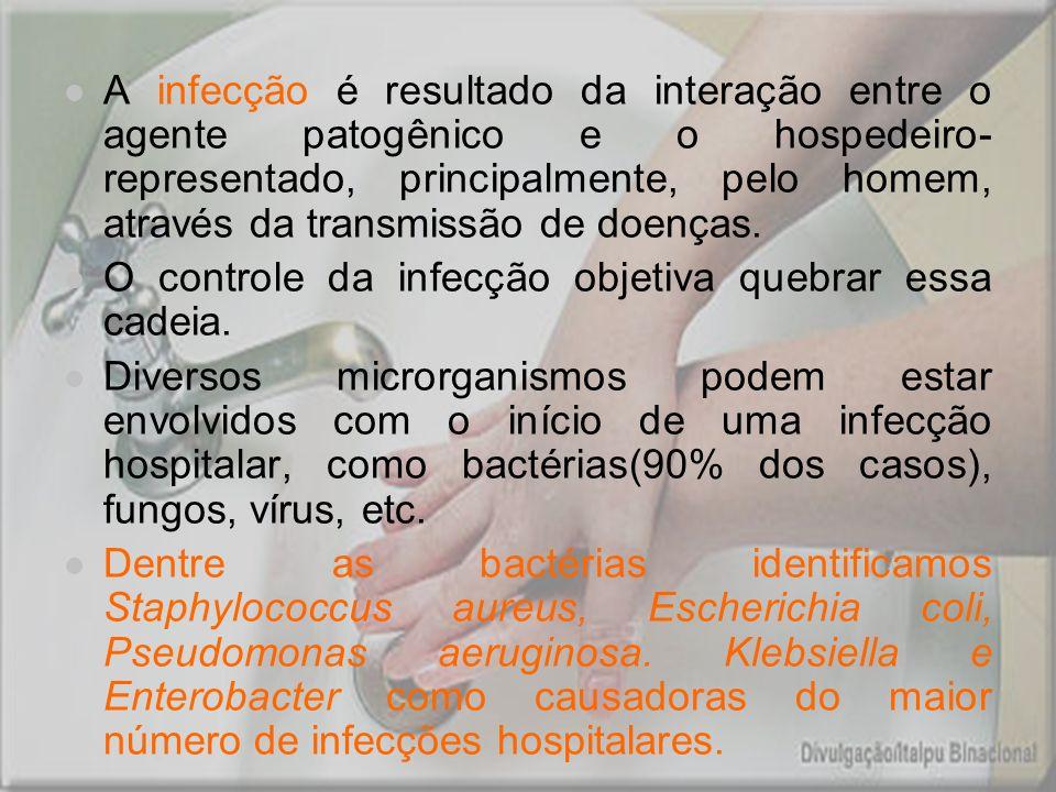 A infecção é resultado da interação entre o agente patogênico e o hospedeiro- representado, principalmente, pelo homem, através da transmissão de doen