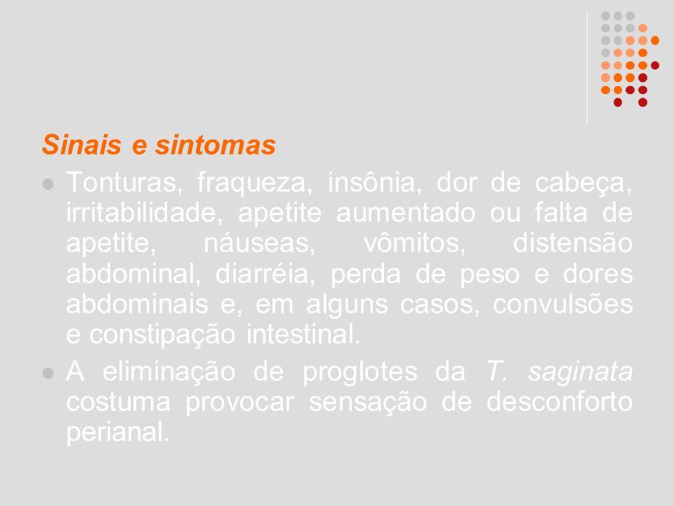 Sinais e sintomas Tonturas, fraqueza, insônia, dor de cabeça, irritabilidade, apetite aumentado ou falta de apetite, náuseas, vômitos, distensão abdom