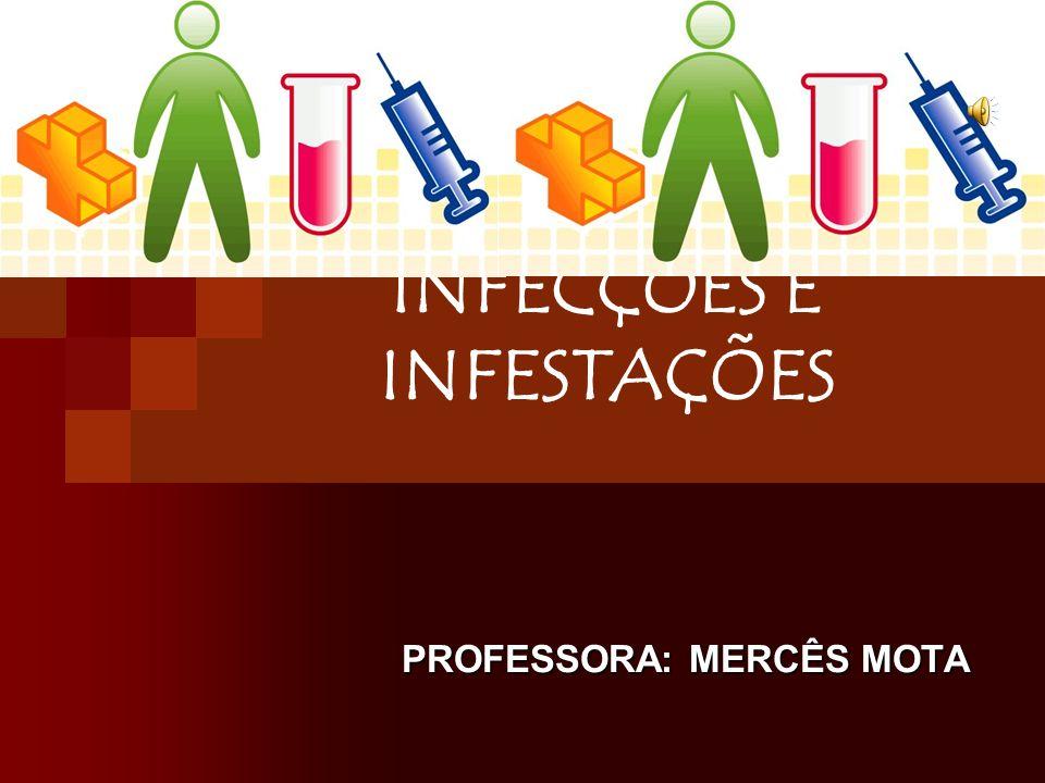 Como visto anteriormente, infecções são tipos de relações desarmônicas, em que o parasito se instala no interior do corpo, enquanto na infestação o parasito se instala fora do corpo.