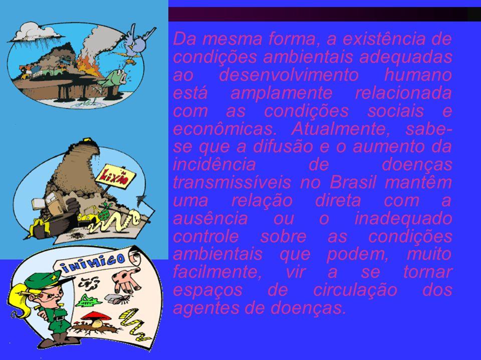 Da mesma forma, a existência de condições ambientais adequadas ao desenvolvimento humano está amplamente relacionada com as condições sociais e econôm