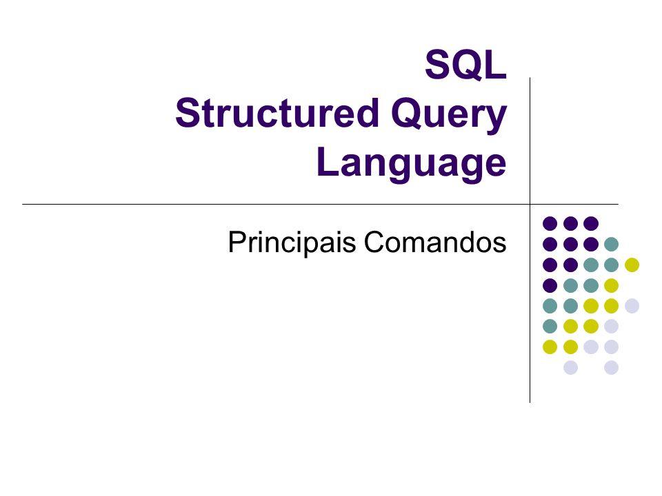 SQL Structured Query Language Principais Comandos