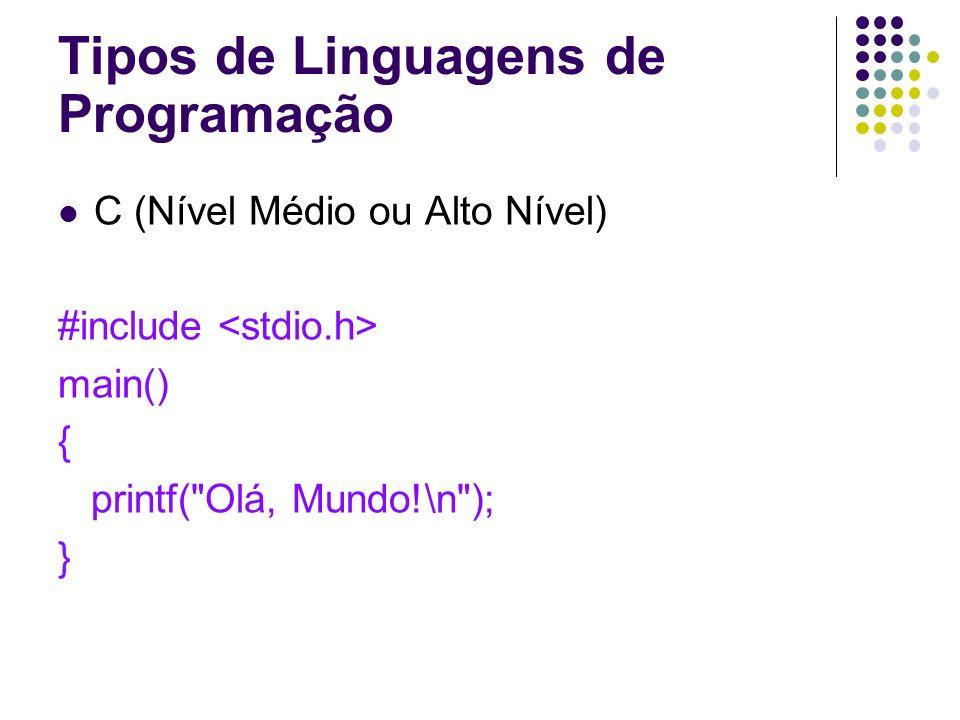 C (Nível Médio ou Alto Nível) #include main() { printf(