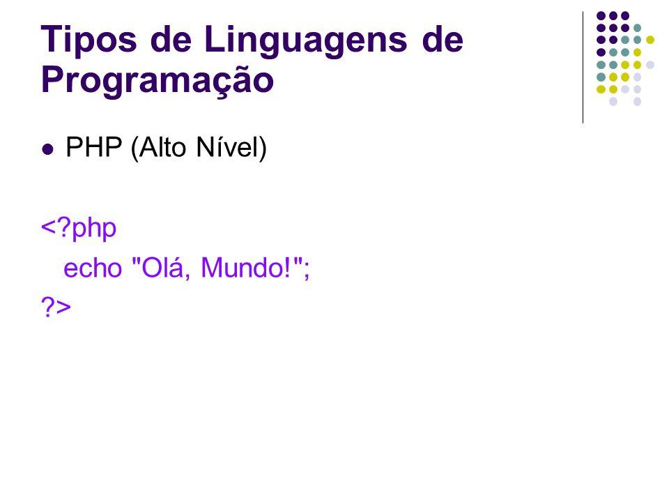 PHP (Alto Nível) <?php echo
