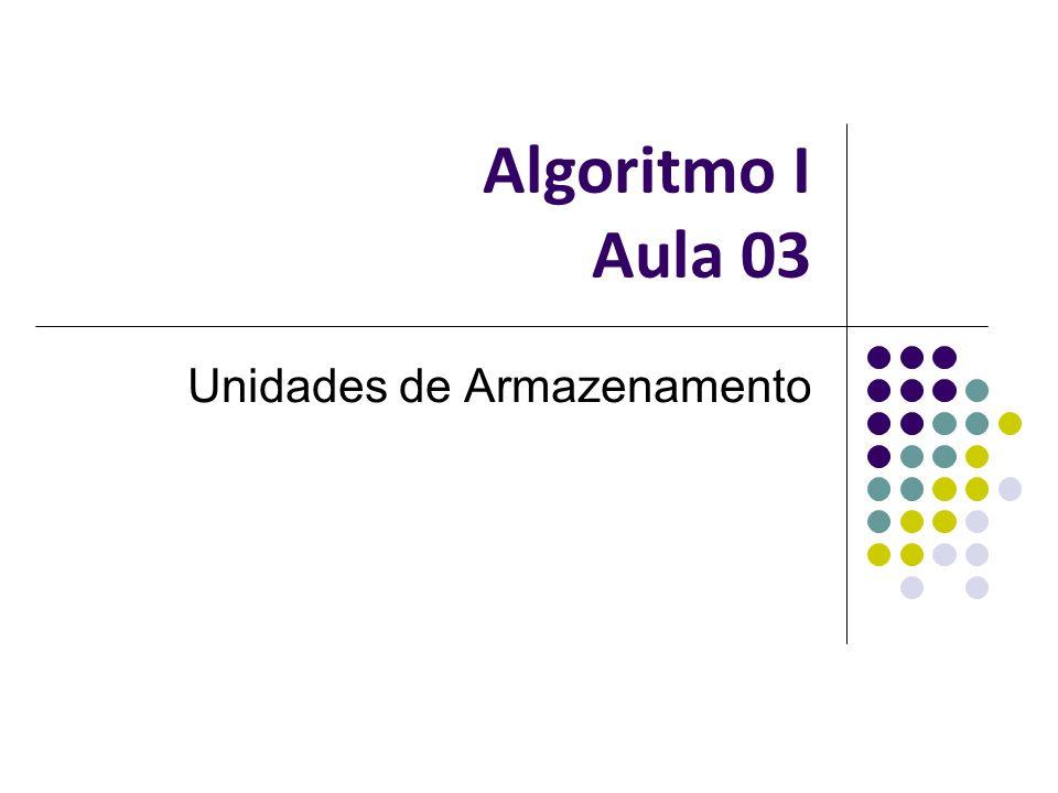 Algoritmo I Aula 03 Unidades de Armazenamento