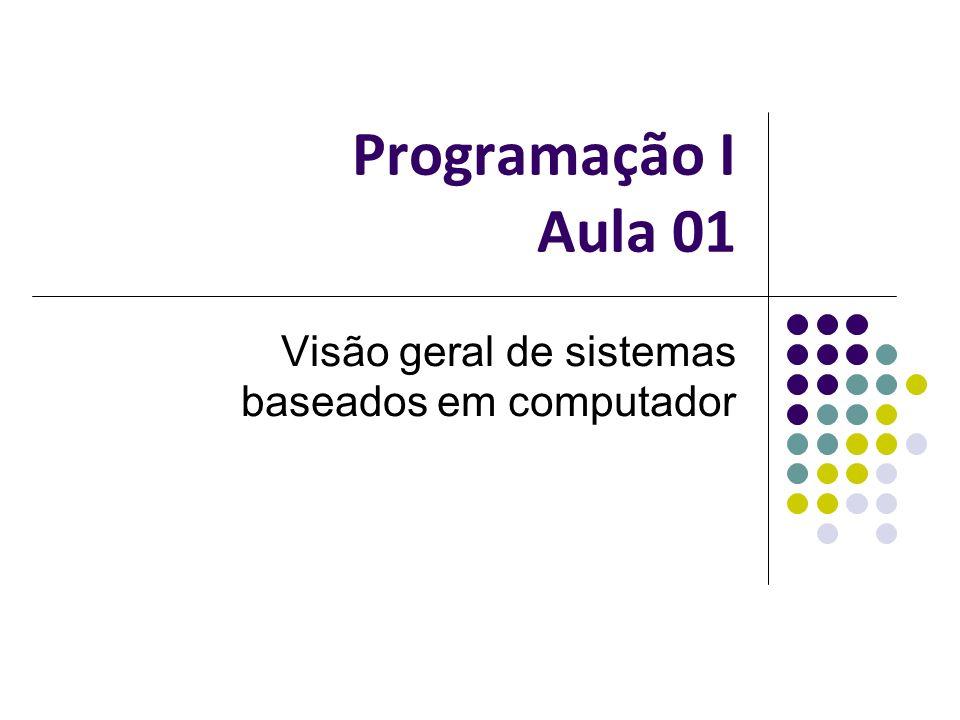 Programação I Aula 01 Visão geral de sistemas baseados em computador