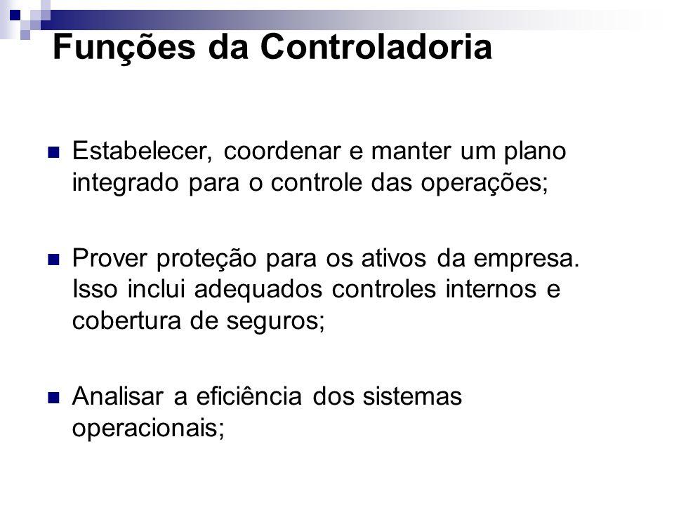 Atribuições da Controladoria Só é possível afirmar que há um efetivo controle se as respostas forem afirmativas para perguntas como: O desvios nesses