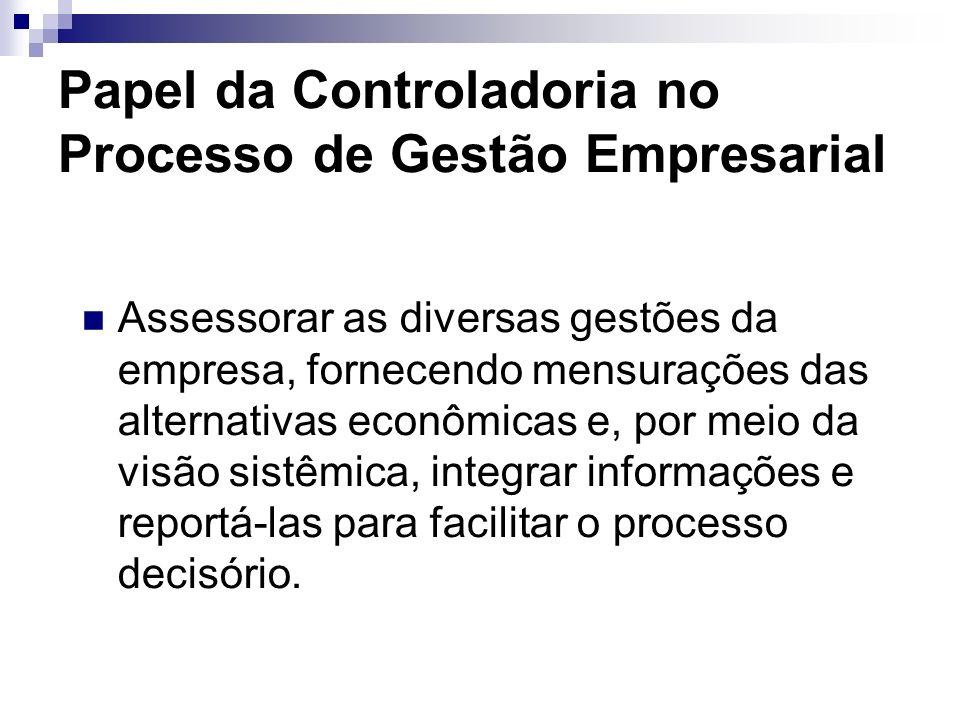 Missão da Controladoria Otimizar os resultados econômicos da empresa por meio da definição de um modelo de informações baseado no modelo de gestão.