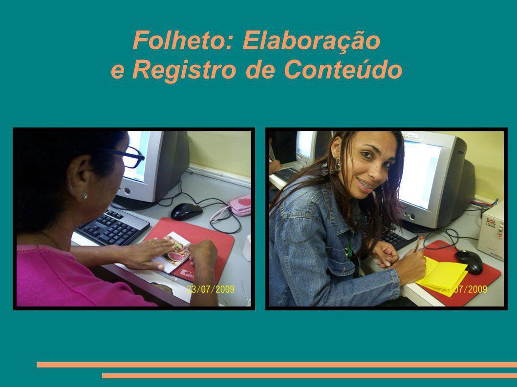 Folheto: Elaboração e Registro de Conteúdo