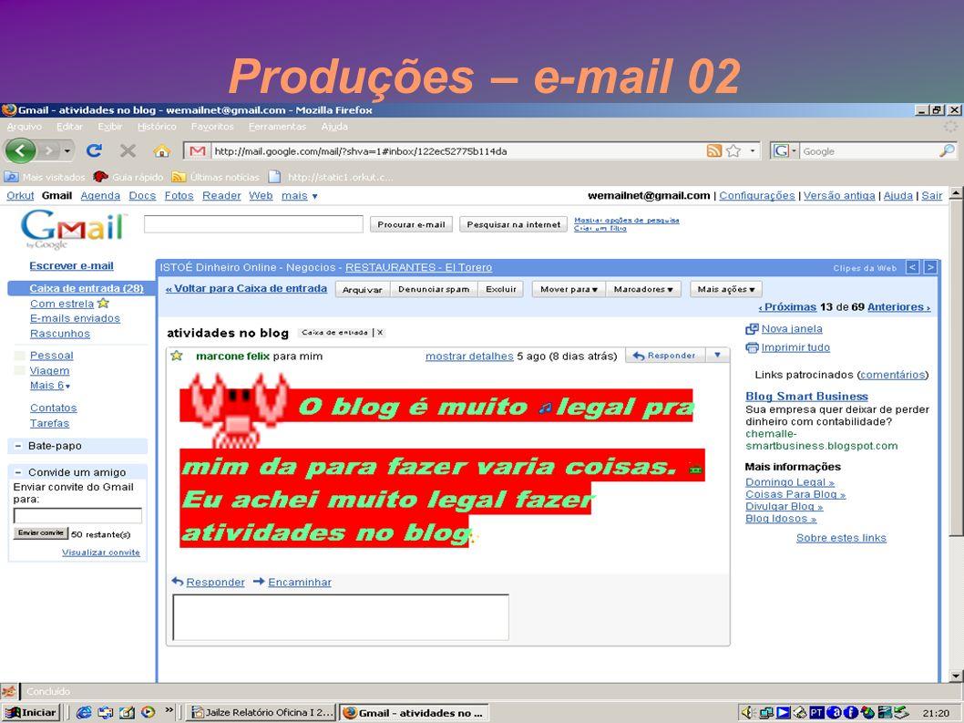 Produções – e-mail 02