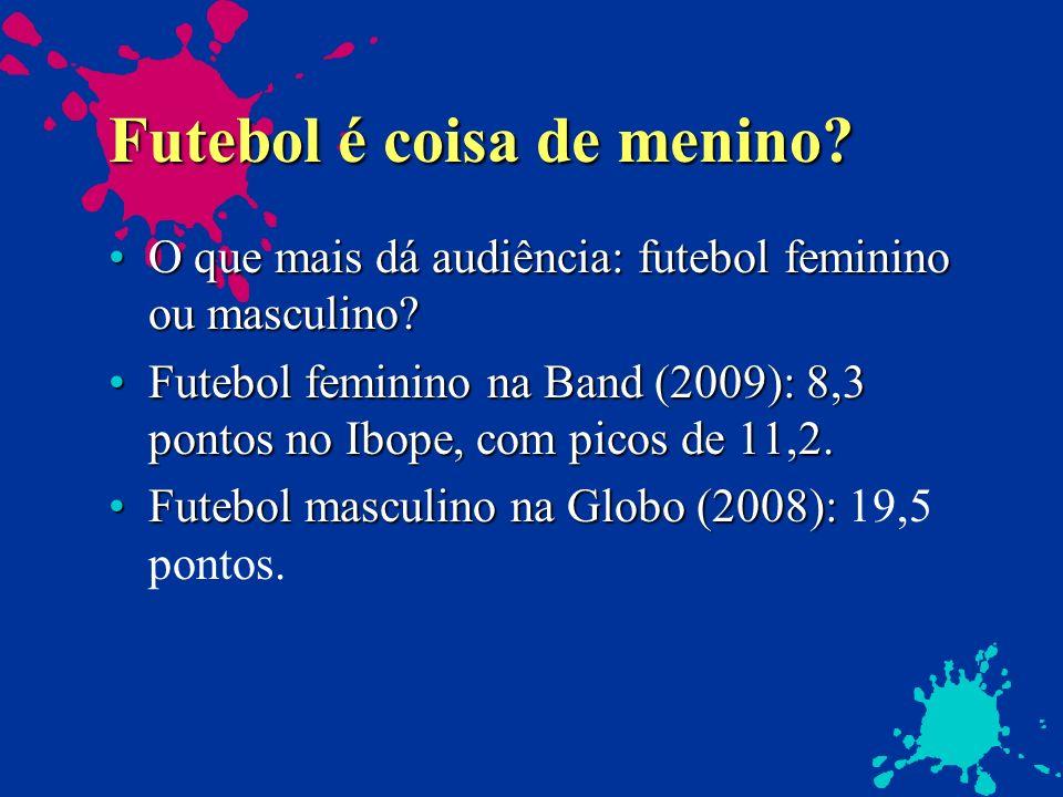 Futebol é coisa de menino? O que mais dá audiência: futebol feminino ou masculino?O que mais dá audiência: futebol feminino ou masculino? Futebol femi
