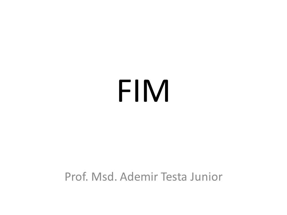 FIM Prof. Msd. Ademir Testa Junior