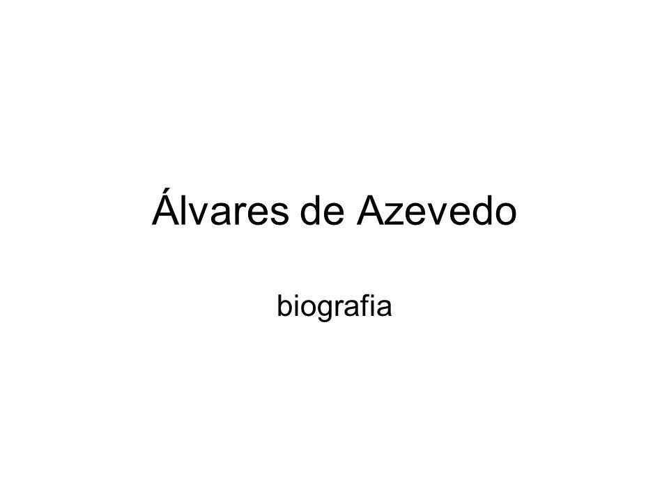 Álvares de Azevedo biografia
