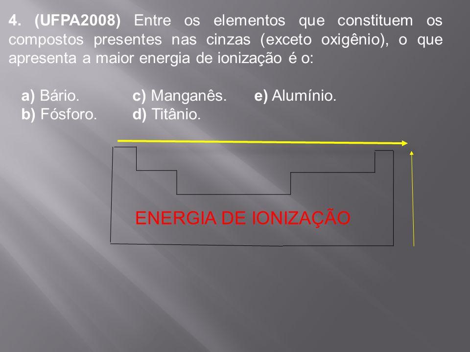 III. A distribuição eletrônica para o íon 25 Mn 2+ é 1s 2 2s 2 2p 6 3s 2 3p 6 3d 5 25 Mn 25 Mn 2+ 1s 2 2s 2 2p 6 3s 2 3p 6 4s 2 3d 5 1s 2 2s 2 2p 6 3s