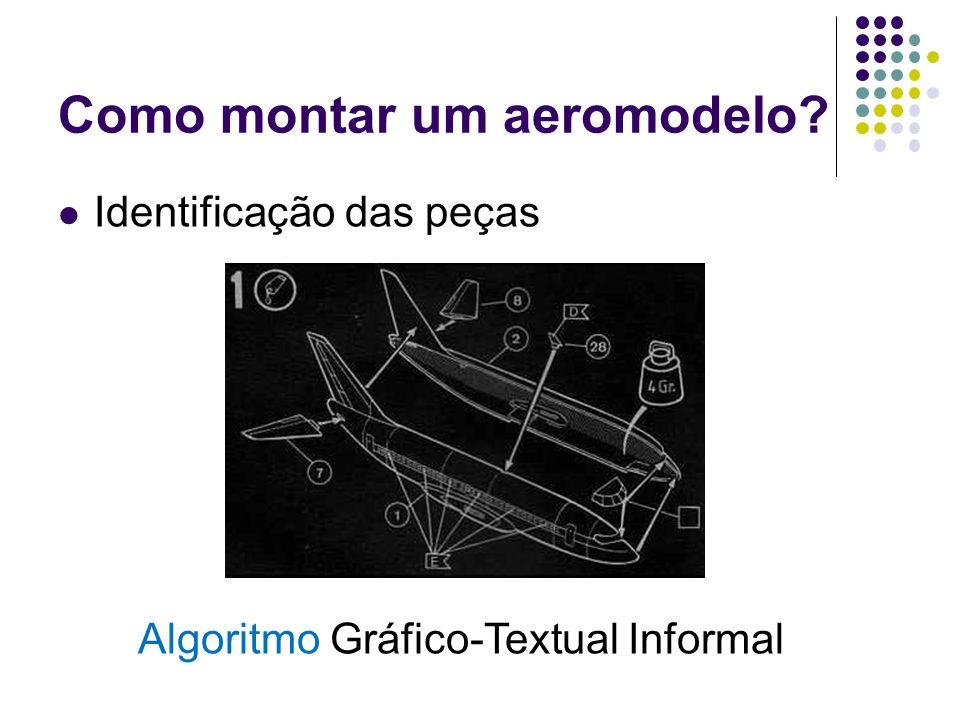 Como montar um aeromodelo? Identificação das peças Algoritmo Gráfico-Textual Informal