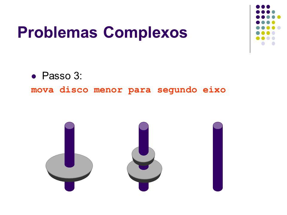 Passo 3: mova disco menor para segundo eixo Problemas Complexos